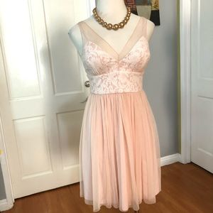 Anthropologie Hitherto Lace-Tulle Bridesmaid Dress